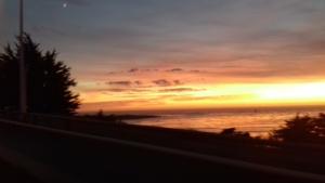 coucher de soleil vue du Pont de Noirmoutier
